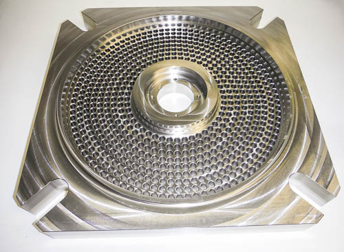MH7 Soap extruder plate 316L stainless